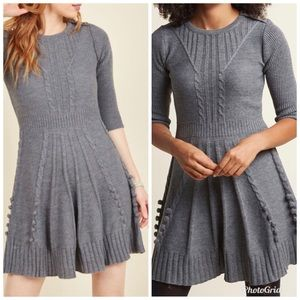 ModCloth Warm Cider Sweater Dress in Ash